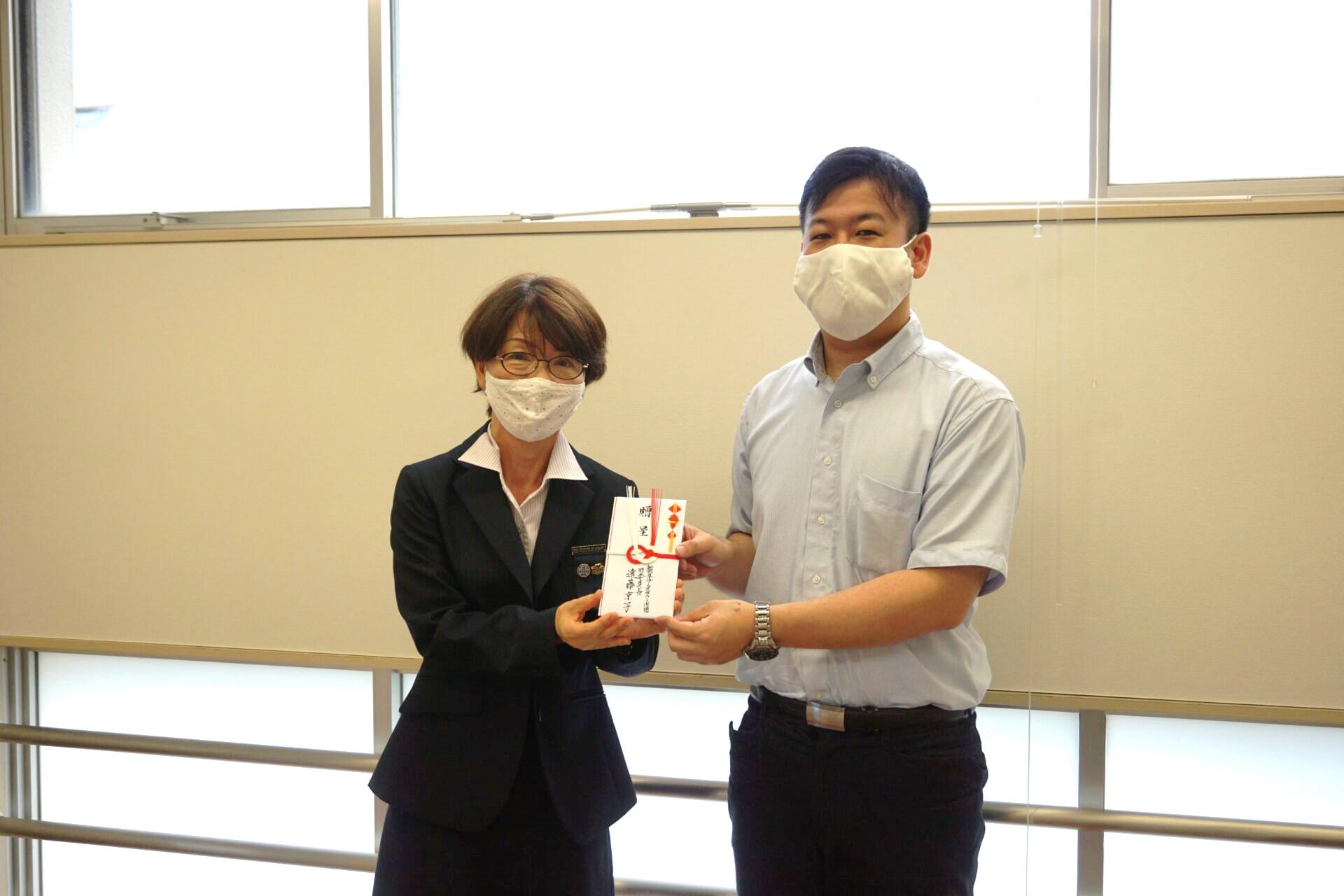 ガールスカウト新潟県第15団様より寄付金をいただきました。